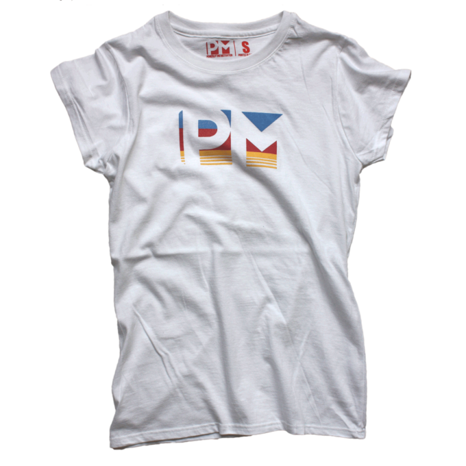 3color PM Female White T-shirt