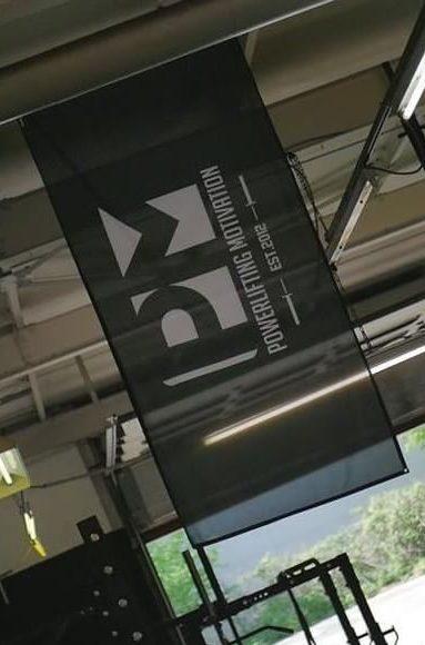 powerliftingmotivation classic gym banner flag