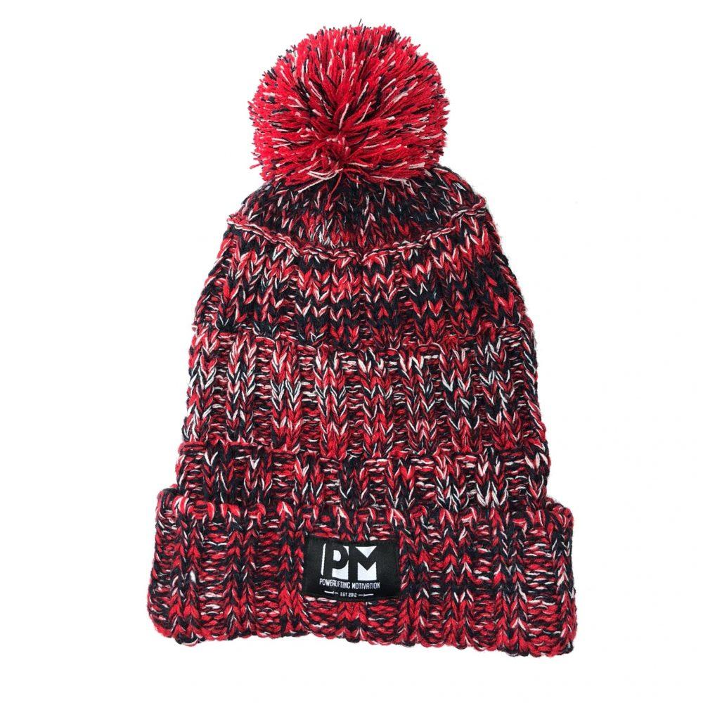 PM Red Pom Winter Beanie