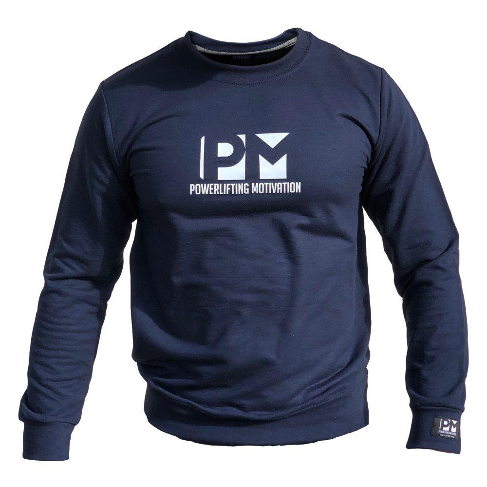 pm navy sweatshirt 2019 front