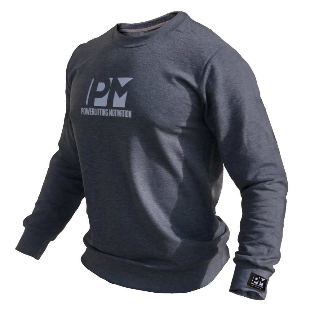 PM sweatshirt grey front 2019