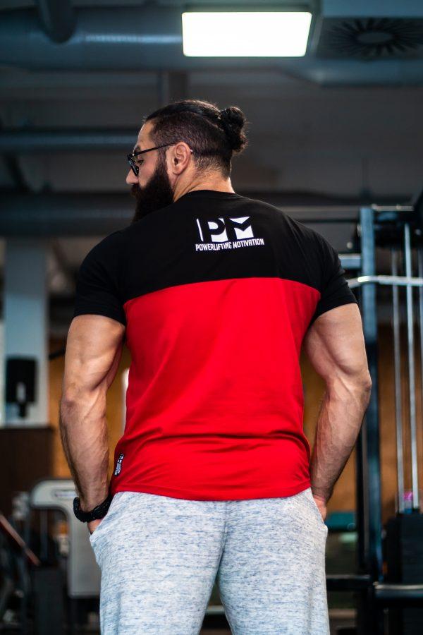 2tone pm tshirt back blk//red