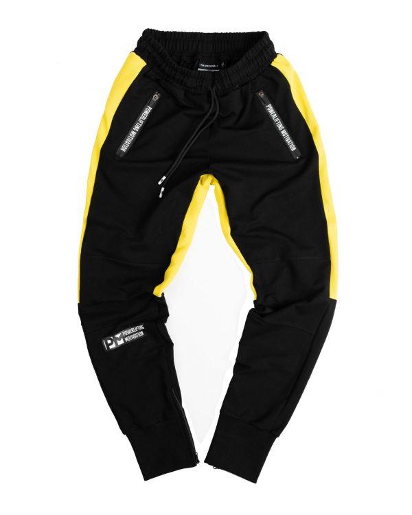 PM PAWA black/yellow joggers
