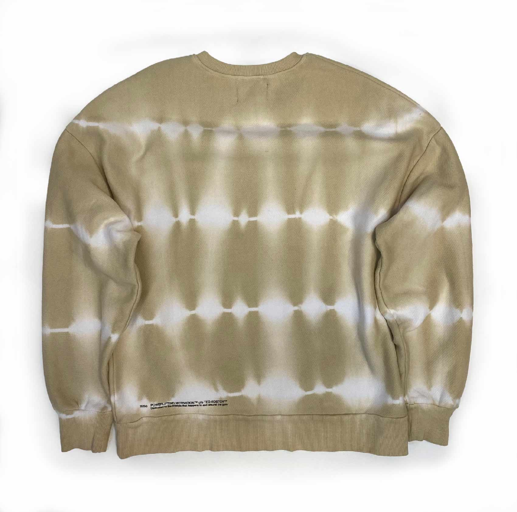 washed out sweatshirt for her back