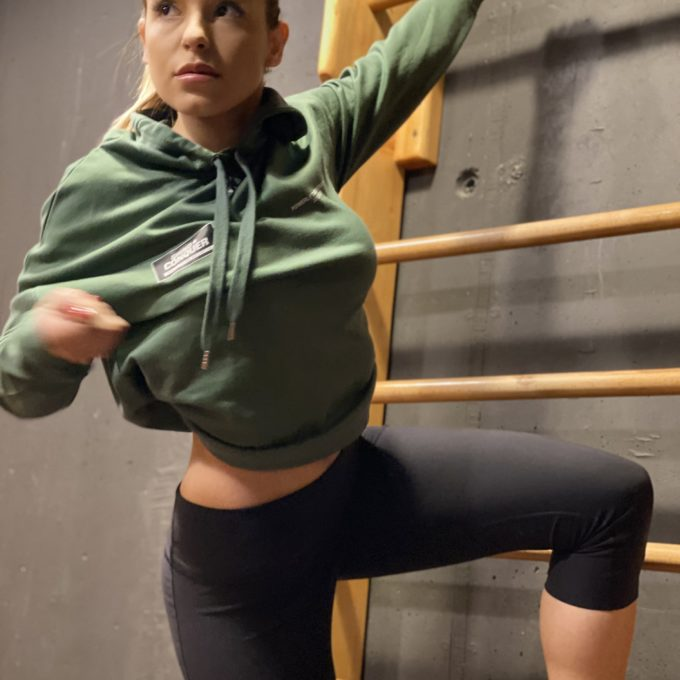 Crop hoodie powerlifting motivation