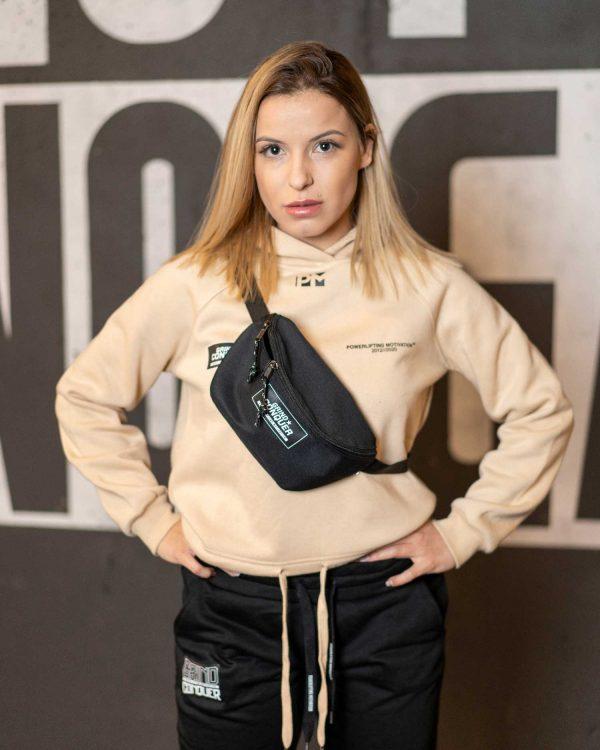 cream crop hoodie girls 2020