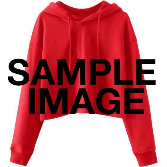 red crop hoodie SAMPLE IMAGE