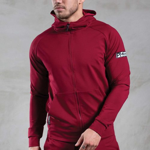 ESSENTIAL BURGUNDY FULL ZIP HOODIE