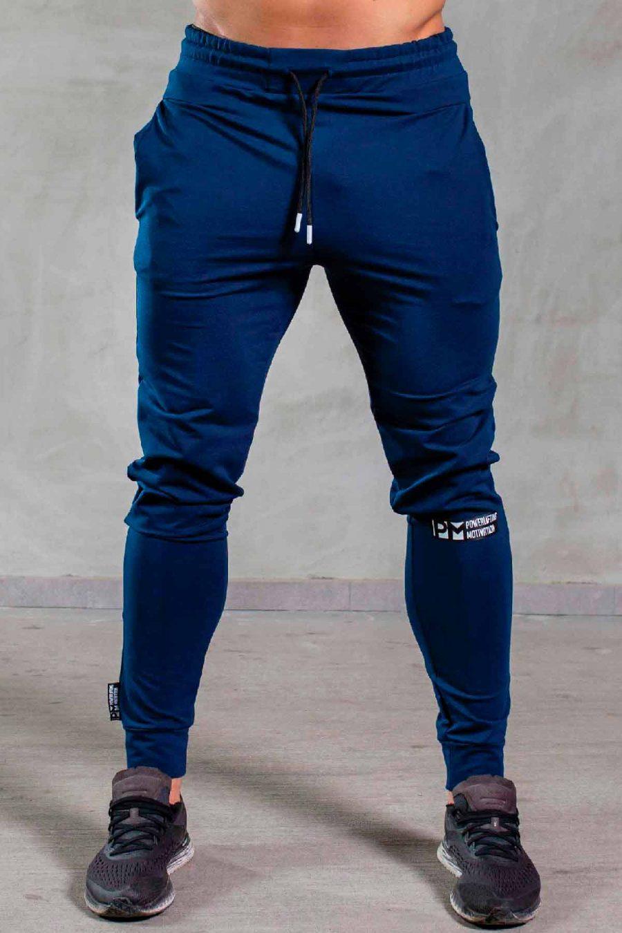 PM ESSENTIALS BLUE TRACK SUIT PANTS