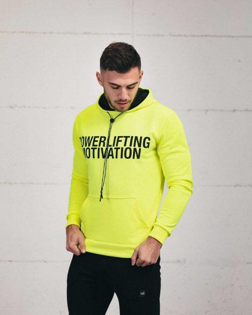 neon green popover hoodie