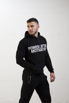 BOLD Powerlifting Motivation popover hoodie neon green black