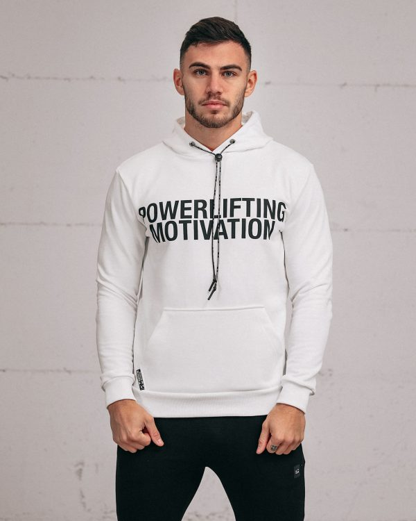 white popover hoodie