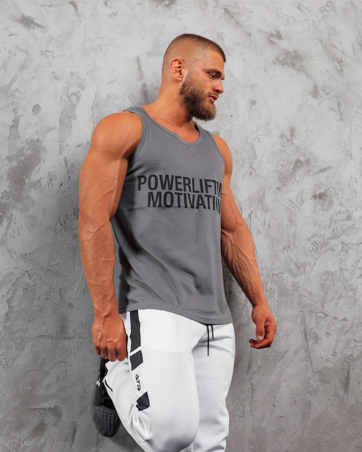 PM Powerlifting Motivation Grey 8