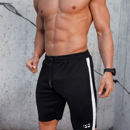 PM Black Skinny Training Shorts