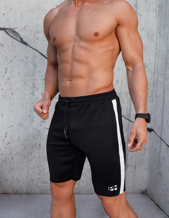PM Black Skinny Training Shorts