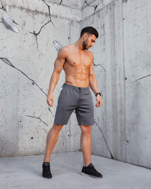 PM Grey Skinny Training Shorts