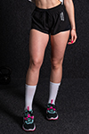 adapt shorts high rise black color