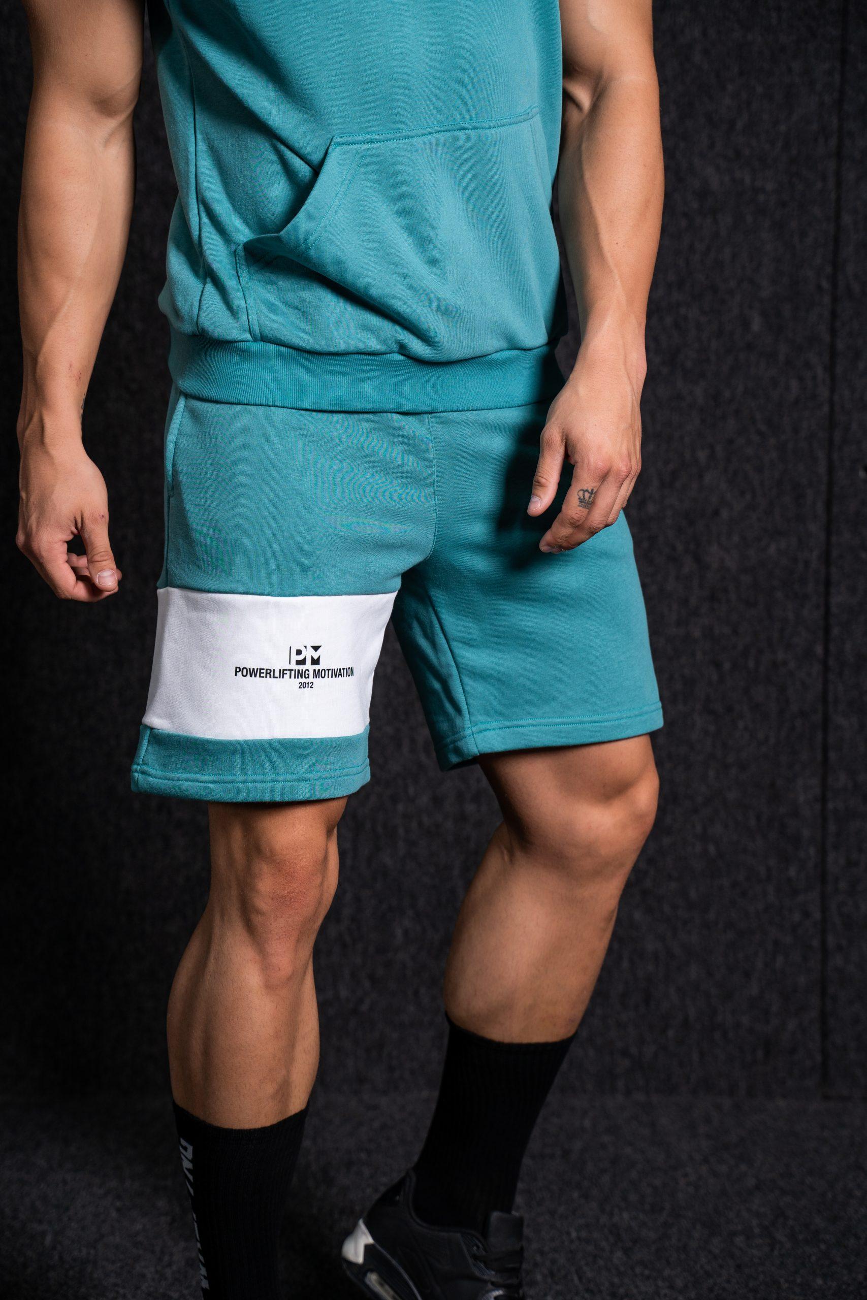 PM Hooded Sleeveless Set turquoise