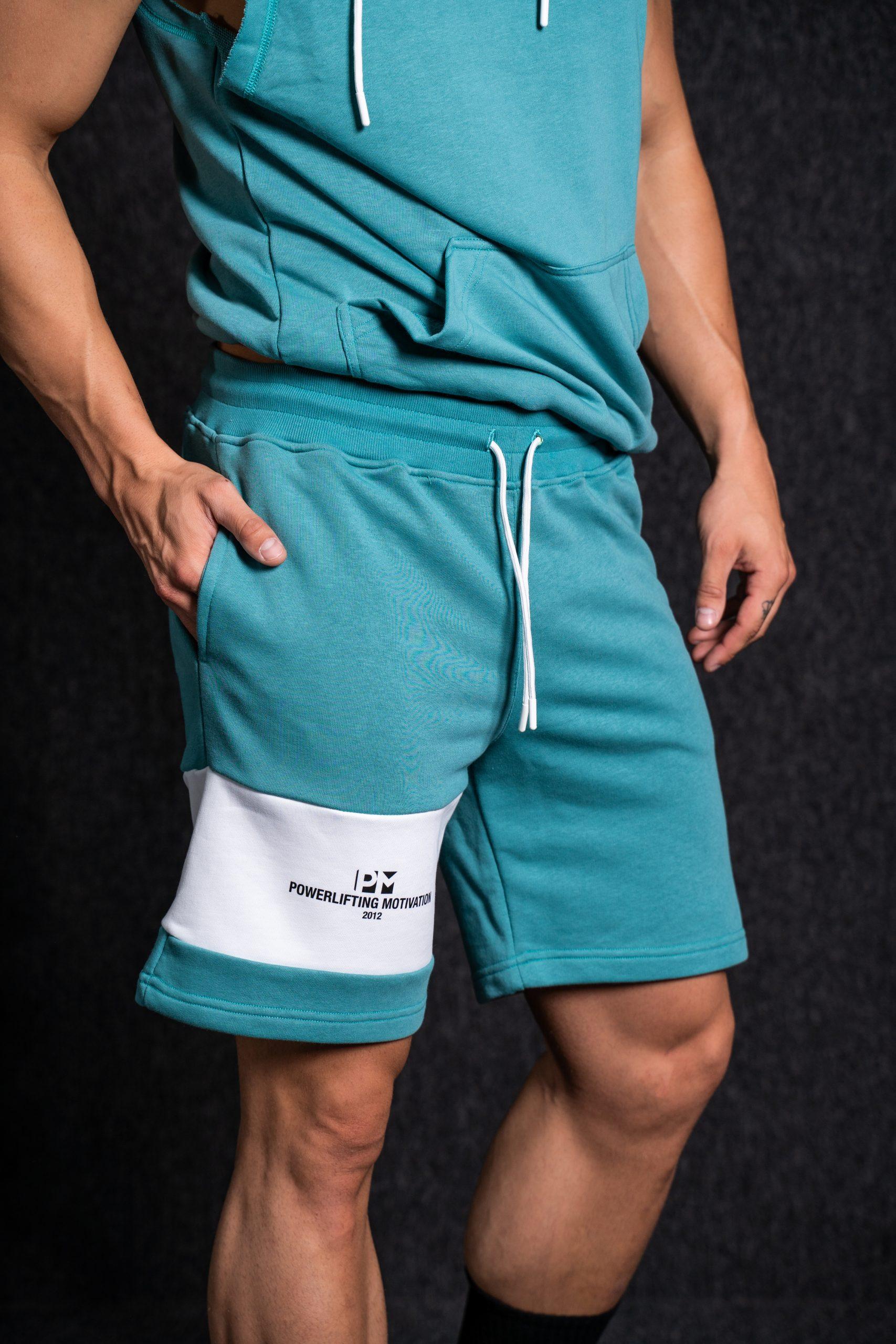 PM Hooded Sleeveless Set turquoise/