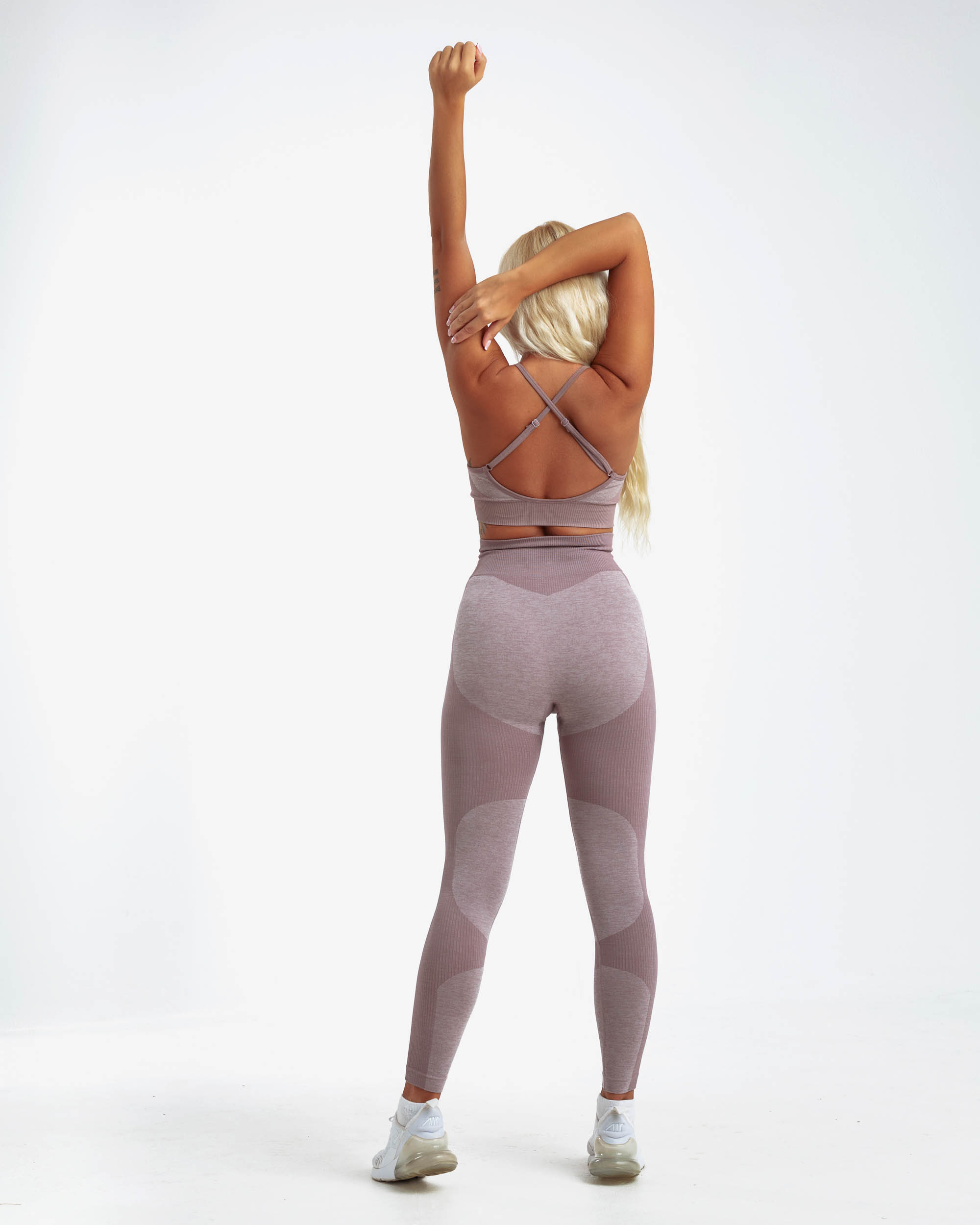 PM STRETCHY SEAMLESS SET BROWN