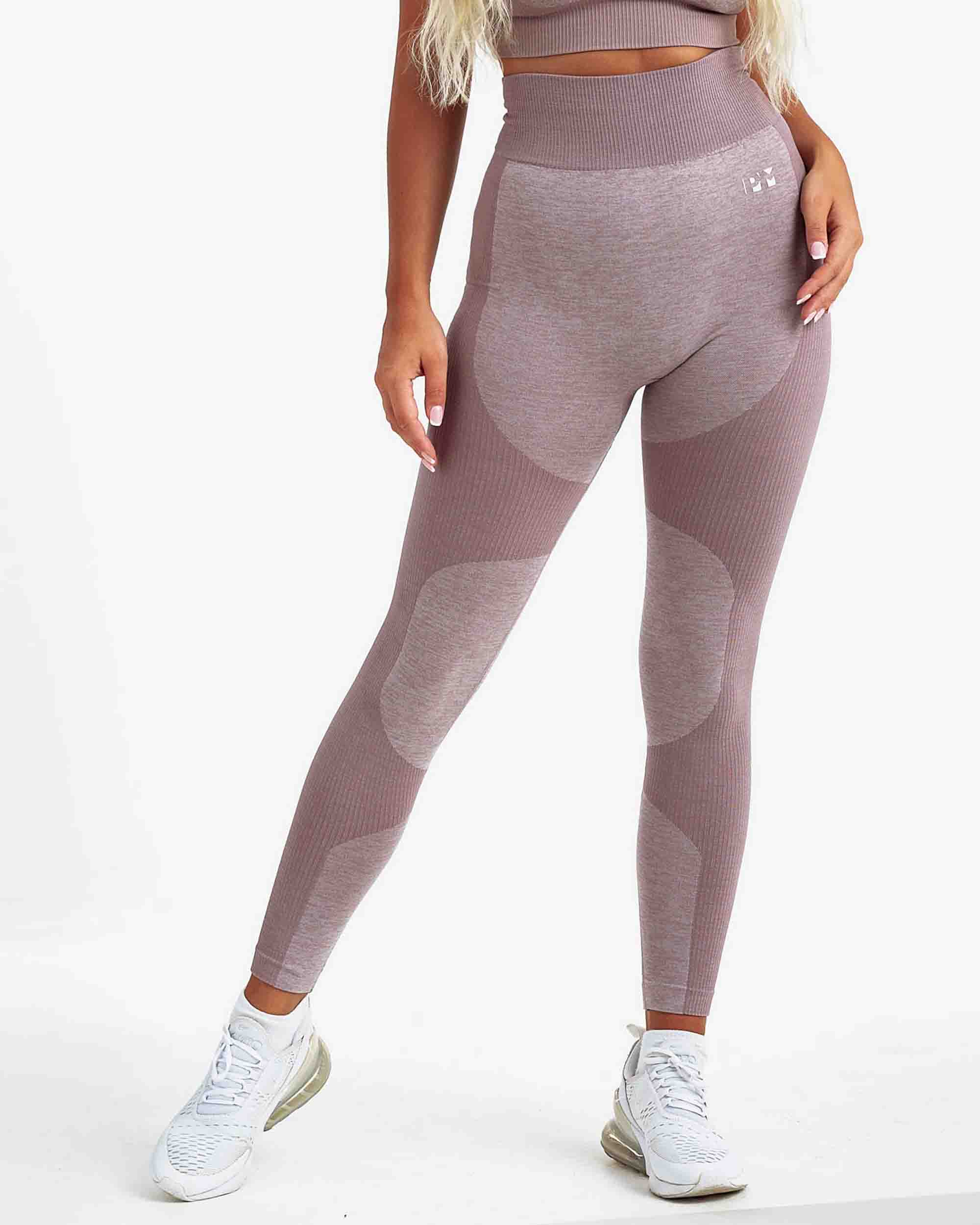 PM STRETCHY SEAMLESS LEGGINGS BROWN