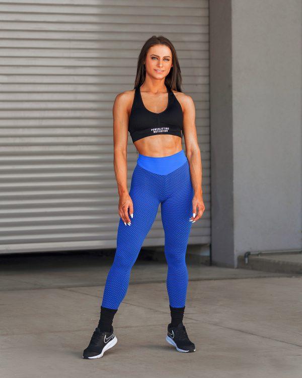 PM Women's Butt Lift High Waist Leggings Blue